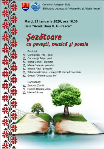 """Biblioteca Aman gazduieste evenimentul intitulat """"Șezătoare cu povești, muzică și poezie"""""""